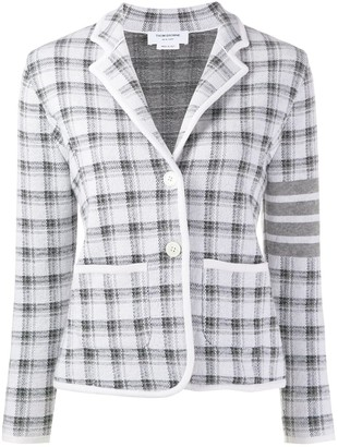 Thom Browne 4-Bar stripe checked jacket