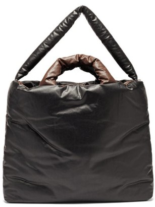 Kassl Editions Bi-colour Padded Coated-canvas Tote Bag - Black Brown