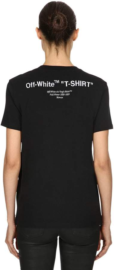 "Off-White Off White ""T-Shirt"" Print Cotton Jersey T-Shirt"