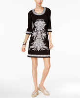 INC International Concepts Petite Embroidered Sheath Dress, Only at Macy's
