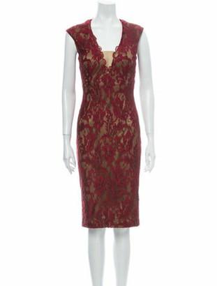 Alberto Makali Lace Pattern Knee-Length Dress