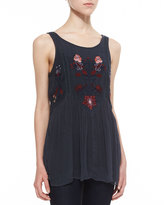 Free People In the Free World Embroidered Top