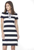 Chaps Petite Striped Polo Dress