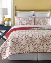 Martha Stewart Collection Collection Chateau Red Twin Quilt