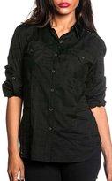 Affliction Women's Treasure L/S Woven Button-up Shirt XS