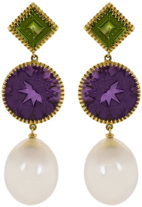 Verdura 18kt yellow gold Theodora drop earrings