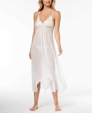 Linea Donatella Keepsake Lace-Trim Chemise Nightgown