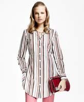 Brooks Brothers Multi-Stripe Cotton Dobby Tunic