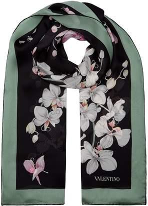 Valentino Garavani Silk Floral Scarf