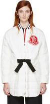 Moncler Gamme Rouge White Down Logo Coat