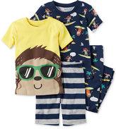 Carter's 4-Pc. Monkey Cotton Pajama Set, Baby Boys (0-24 months)
