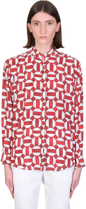 Isabel Marant Cade Shirt In Red Silk