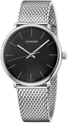 Calvin Klein Men Swiss High Noon Stainless Steel Mesh Bracelet Watch 40mm