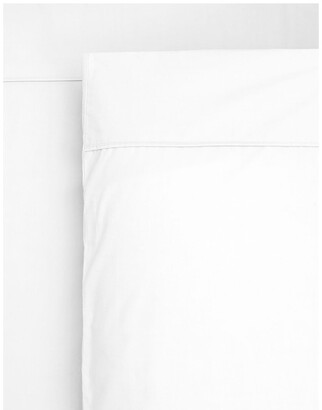 Heritage 1000TC Finest Cotton Sateen Super King Size Sheet in White White Super