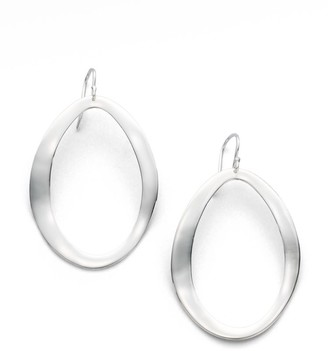 Ippolita Classico Sterling Silver Wavy Oval Drop Earrings