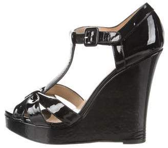 Valentino Patent Leather Bow Wedges