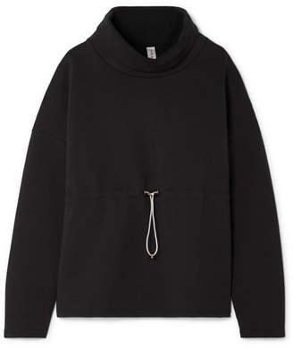 Varley Barton Cotton-blend Jersey Sweatshirt - Black