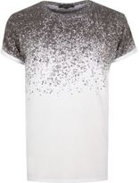 River Island White Splatter Print T-shirt
