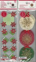 Martha Stewart U Choose Poinsettia Photo Corners Rosette 3d Stickers Christmas