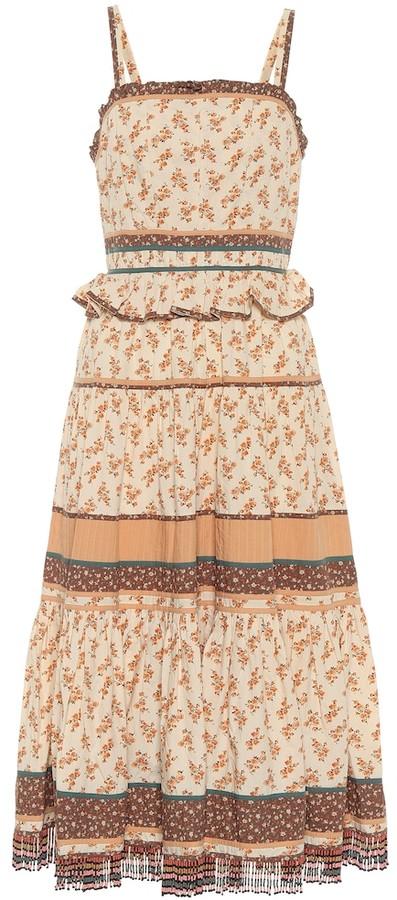 Ulla Johnson Cecilie floral cotton midi dress