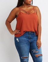 Charlotte Russe Plus Size Strappy Caged Tank Top