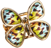 Barse Bronze Quartz Butterfly Ring
