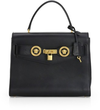 Versace Icon Leather Satchel