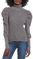 Leith Women's Puff Sleeve Turtleneck Sweater