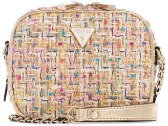 GUESS Mini Cecily Tweed Crossbody Bag