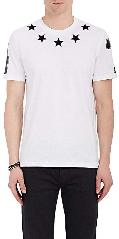 Givenchy Men's Star-Appliquéd Cotton Jersey T-Shirt