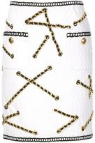 Moschino boucle chain trim skirt - women - Cotton/Polyester/Other fibres - 42