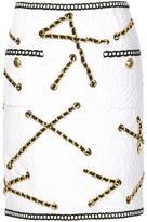 Moschino boucle chain trim skirt