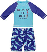 Asstd National Brand Shark Rash Guard Set - Toddler