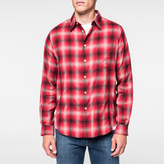 Paul Smith Men's Red 'Shadow Plaid' Cotton Shirt