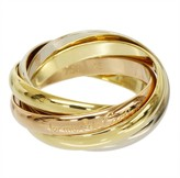 Cartier Trinity 18K Rose White & Yellow Gold 5 Bands Ring Size 5