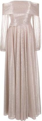 Talbot Runhof Bonton metallic gown