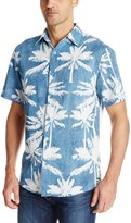 Margaritaville Men's Short Sleeve Palm Paradise Shirt