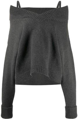 Maison Margiela cold-shoulder knitted jumper