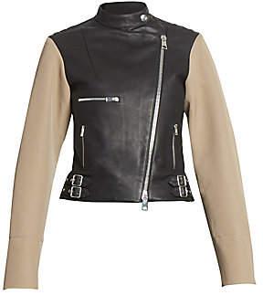 Victoria Beckham Women's Contrast Leather Biker Jacket