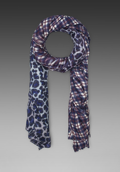 Marc by Marc Jacobs Abigail Plaid & Lenora Leopard Scarf