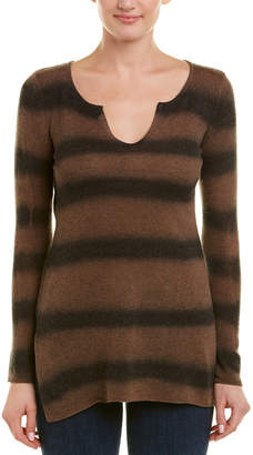 Acrobat Striped Wool-Blend Top