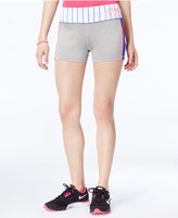 Material Girl Active Pro Juniors' Striped Graphic Shorts