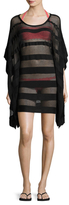 Herve Leger Solid Mesh Coverup