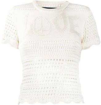 Amiri Crochet Knit Top