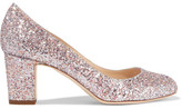 Jimmy Choo Billie Glittered Leather Pumps - Pastel pink