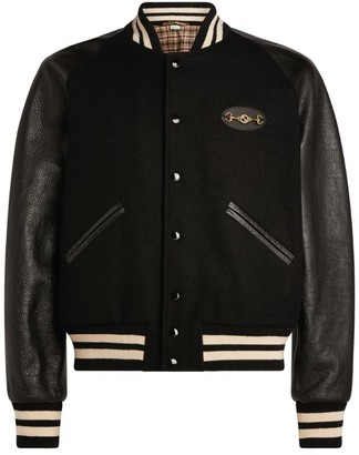 Gucci Leather-Detail Bomber Jacket