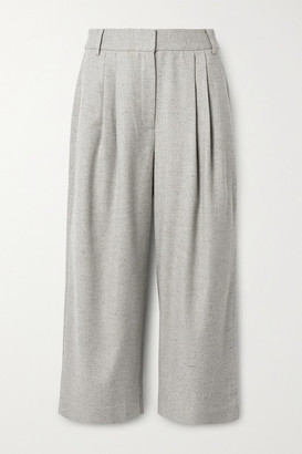 Tibi Lola Pleated Tweed Culottes - Gray