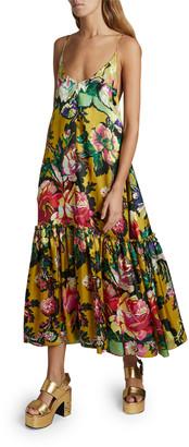 Dries Van Noten Diba Floral-Print Midi Slip Dress