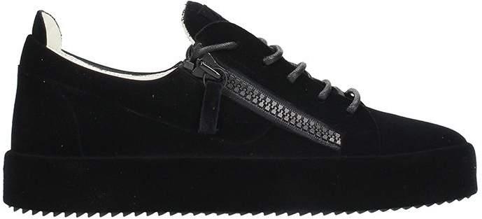 Giuseppe Zanotti Low Black Velour Sneakers