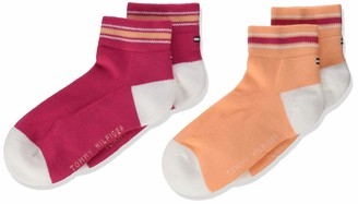 Tommy Hilfiger Girl's Th Kids Iconic Sports Quarter 2p Calf Socks